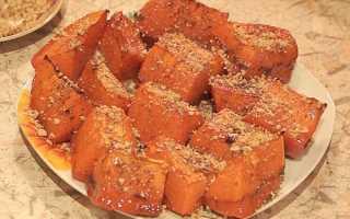 Как запечь тыкву в духовке с медом: пошаговые рецепты