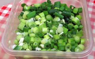 Как правильно замораживать зеленый лук на зиму