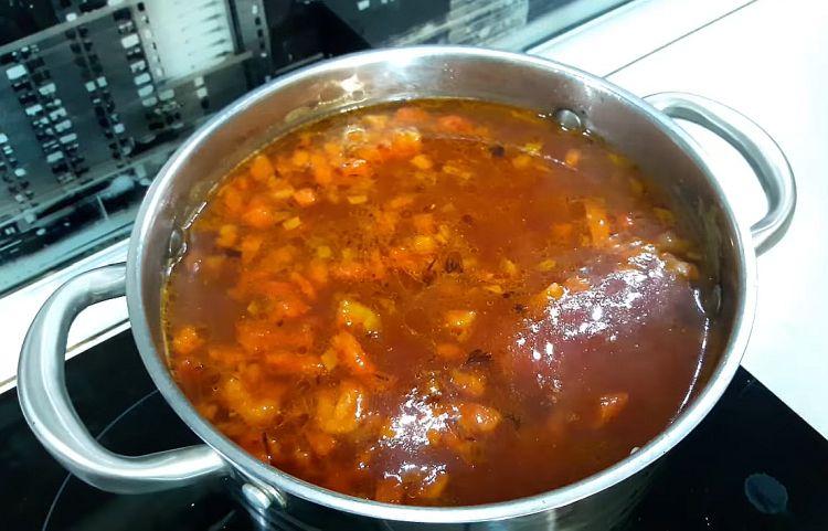 пища как приготовить суп харчо