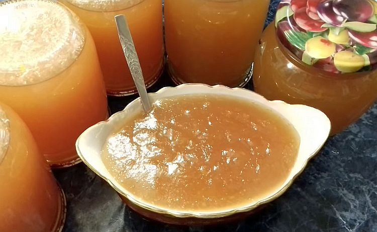 яблочный джем с цитрусовым ароматом